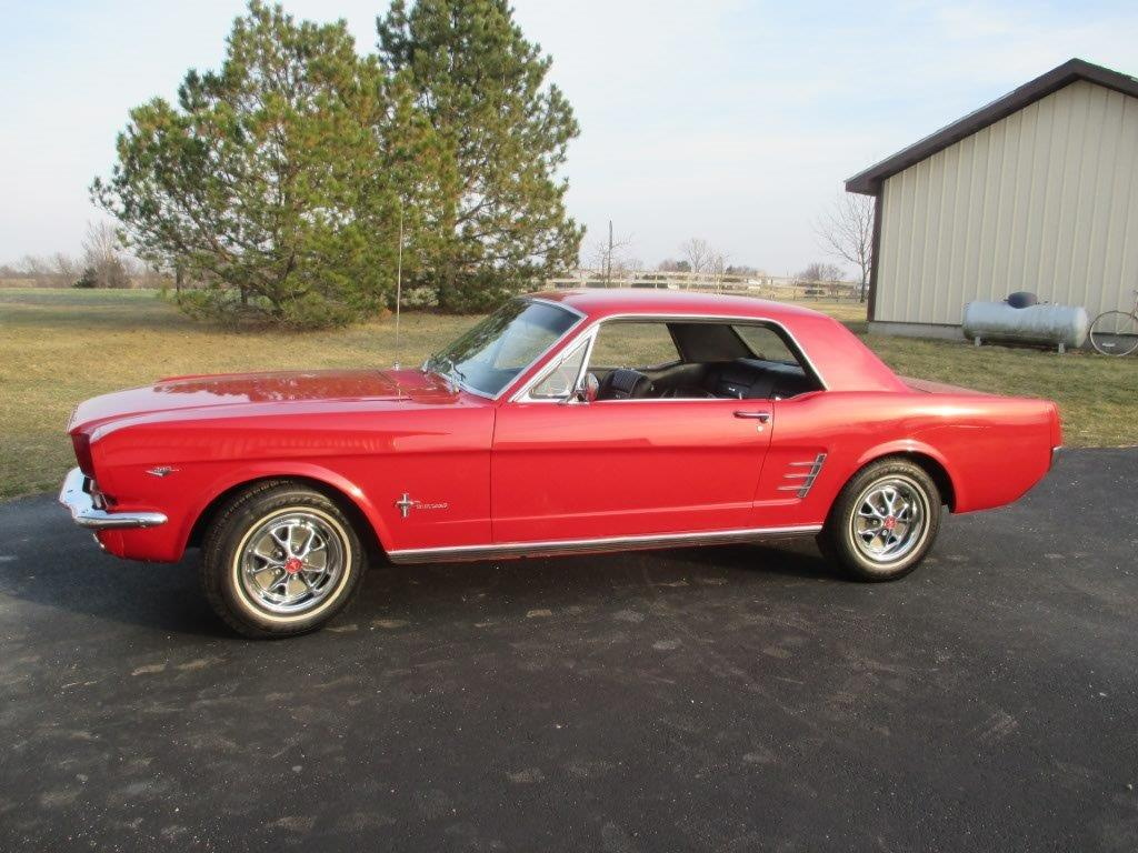 1966 ford mustang coupe branson auction classic and. Black Bedroom Furniture Sets. Home Design Ideas